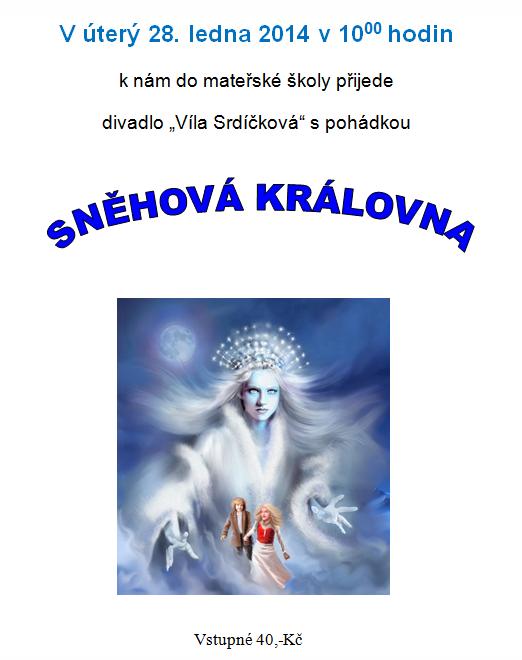 Plakátek - divadlo Sněhová královna