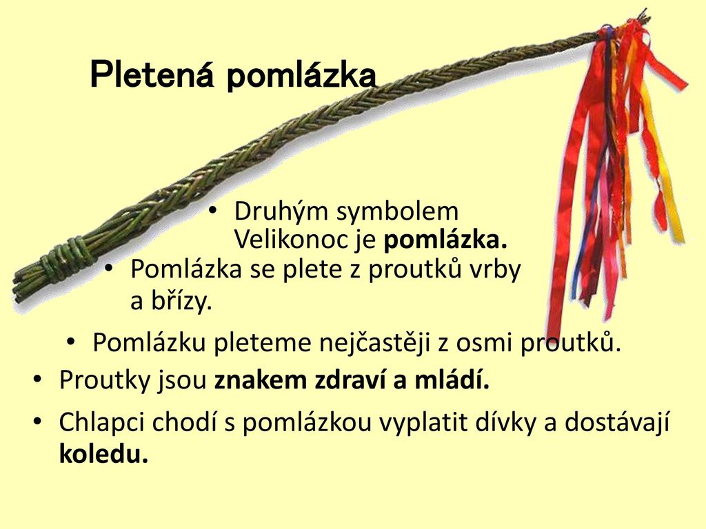 Pletená+pomlázka+Druhým+symbolem+Velikonoc+je+pomlázka. | Mateřská škola  Žďár nad Sázavou